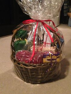 60th birthday surprise gift basket
