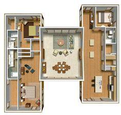 Planos de casas prefabricadas. Más información sobre este y otro tipo de casas prefabricadas en: casasprefabricadasya.com #casas #prefabricadas #baratas #madera #diseño