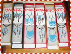 dream catcher sets ~ https://www.facebook.com/pages/Beaded-Moon-Designs/229870373249