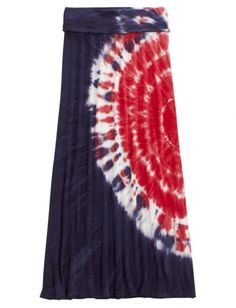 Red, White & Blue Tie Dye Maxi Skirt | Girls Skirts Clothes | Shop Justice