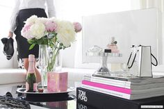 peonies, tom ford, parisian chic