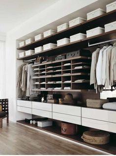Mens closet: clean lines, minimal and fantastic.