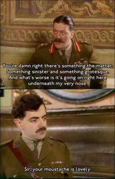 Blackadder - As much as it pains me to say it, Ben Elton did a bloody good job with Blackadder one of the funniest programmes, particularly love series 3 and Hugh Laurie was amazing.haven't seen this show in ages! Funny Shit, Funny Cute, The Funny, Funny Memes, Jokes, Funny Stuff, Funny Things, Random Stuff, Awesome Things