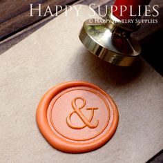 1pcs Personalized Ampersand And Wedding Gold Plated Wax Seal Stamp (WS081)