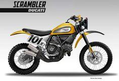 """VOROMV: Motos posibles """"con cuatro piezas"""": 4- Ducati Scrambler TT 800"""