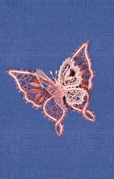 Russian bobbin lace butterfly. #Russian #lace