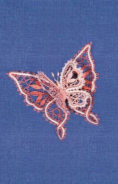 Russian bobbin lace butterfly. #Russian #lace