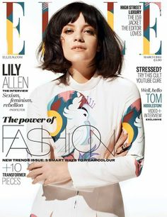 Lily Allen dla ELLE UK, 03.2014, fot.David Vasiljevic/skan