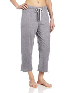 Nautica Sleepwear Women's Knit Jersey Capri Pant, Ash Heather, Large: Soft Knit Jersey capri pant has an elastic waistband with scallop trim and a striped drawstring tie. Sleepwear Women, Women's Sleepwear, Womens Capri Pants, Lingerie Party, Fashion Pants, Get Dressed, Anchor, Clothes, Lounge