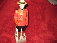 CANADIAN MOUNTIE DECANTER-1969 by framedvintageart on Etsy
