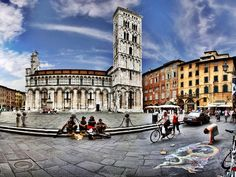 This is about how I remember it, except there's live music all the time // Lucca Italy