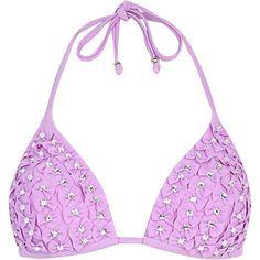 9db5c5bcd9 8 Best River Island - Blue Mesh Floral Lace High Neck Bikini images ...