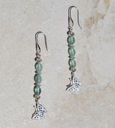 Sterling Silver fluorite earrings sterling by KarmaKittyJewelry