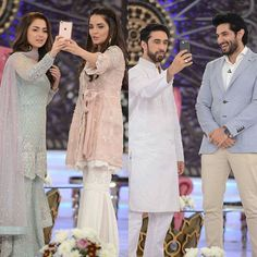 @haniaheheofficial @armeenakhanofficial @alirehmankhan @ashrafbilal in #goodmorningpakistan Eid Special day 4❤❤ If you have watched their movie #JANAAN then comment a rate out of 10. _ _ #haniaaamir #armeenakhan #alirehmankhan #bilalashraf #pakistanicelebrities