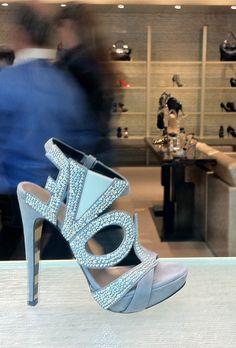 Crystal LOVE stilettos