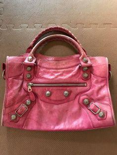 a5e5fafaece6 Balenciaga Giant City Hand Tote Bag Pink Leather Used  fashion  clothing   shoes