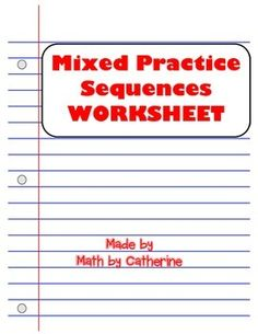 Lesson 2 homework practice sequences answers