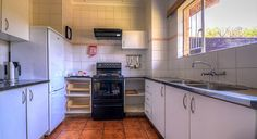 Self-catering kitchen in the 6 bed cottage at Thendele Camp, uKahlamba Drakensberg Park located in South Africa