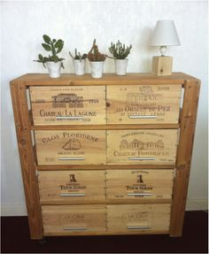 1000 images about caisse de vin on pinterest wine boxes for Meuble caisse vin