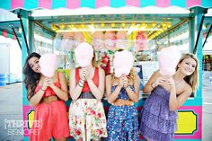 LOVE this shoot!!! high school senior photography of best friends at a carnival