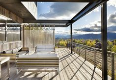 Jackson Hole vacation home with metal chain mail screen.