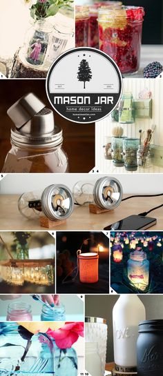 Home Decor Ideas: Using Mason Jars