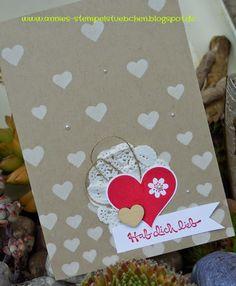 Annies Stempelstübchen Hearts - Herzen - Dekoschablone