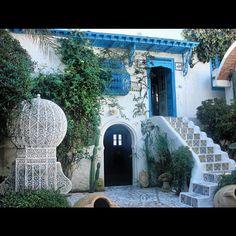 #túnez patio típico de #sidibousaid by Luis Miguel García, via Flickr
