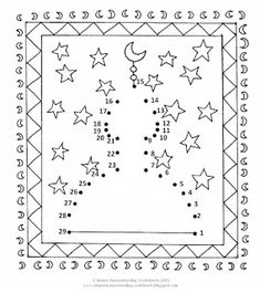 FREE Islamic Joining the Dots / Connect the Dots / Dot-to Dot Worksheets