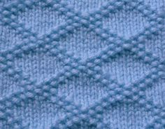 Halfknits Charity Knitting and Crochet Group - Knitted Block Patterns - King Charles Brocade Knit Purl Stitches, Knitting Stiches, Baby Knitting Patterns, Loom Knitting, Stitch Patterns, Knitted Squares Pattern, Knitting Squares, Pattern Blocks, Block Patterns