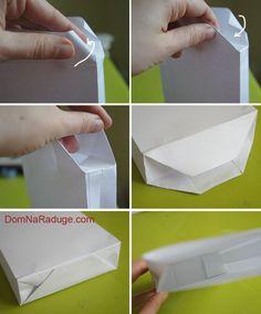 Крафт пакеты без выкройки. Простой способ