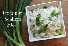 Coconut Scallion Rice| www.ahappyhealthnut.com