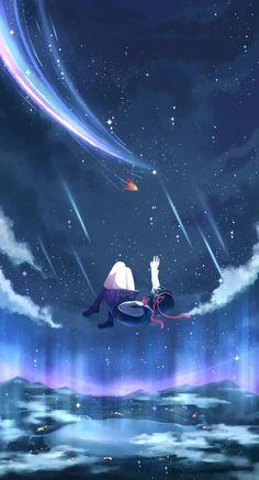 kimi_no_na_wa landscape miyamizu_mitsuha nineninnne seifuku Film Anime, Art Anime, Anime Artwork, Anime Art Girl, Manga Art, Manga Anime, Kimi No Na Wa, Your Name Anime, Anime Galaxy