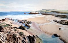 Santander, acuarela, watercolor Landscapes, Watercolor, Portrait, Illustration, Outdoor, Artists, Ink, Watercolor Painting, Portraits