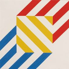 Anton Stankowski, Untitled, 1969. Acryl on canvas. Germany. Via Lempertz
