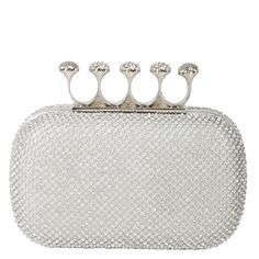 Wow the crowd at your next wedding event with this wedding clutch studded with rhinestones!