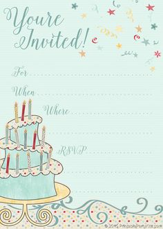 72 Best Birthday Invitation Templates Images Birthday Invitations