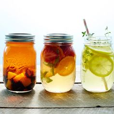 Keep the party crowd chill with these self-serve thirst quenchers. Steep the tea in jars overnight in the fridge; then pack the jars into a bin filled with ice for an easy, guest-friendly drink sta…