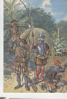 Portuguese Soldiers in Brasil - 16th century