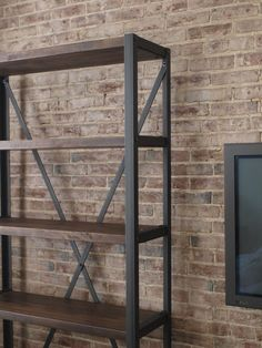 Engineers Industrial Bookcase Shelf Shelving by CamposIronWorks