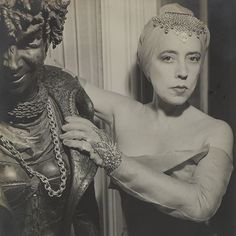 Elsa Schiaparelli (and her Madame Satan statue). Does anyone have more info about this statue?a film or. Elsa Schiaparelli, Christian Lacroix, Dali, Givenchy, 20th Century Fashion, Italian Fashion Designers, Photos Of Women, Vintage Fashion, Vintage Style