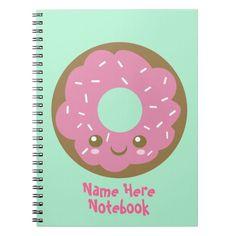 Buñuelo rosado lindo libro de apuntes
