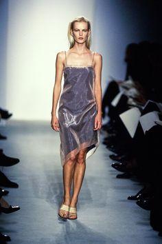 See through fashion runway models that interrupt