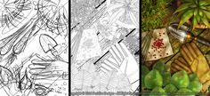 'Gardener' - Deridias Designs, process, before and after, roughs, lines, design, art, illustration, garden, green, inspiration, fantasy art, drawing, lineart, digital art, top down, plants, nature, pots, gloves, outdoors.