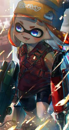Safebooru is a anime and manga picture search engine, images are being updated hourly. Splatoon 2 Game, Splatoon Squid, Nintendo Splatoon, Splatoon Comics, Character Art, Character Design, Minions, Fanart, Stars At Night