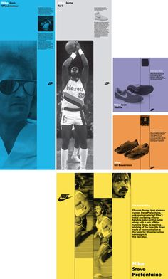This Nike retail concept aimed at the Asia Pacific markets, required a flexible environmental solution that reflected their outstanding sporting heritage. Web Design, Layout Design, Editorial Layout, Editorial Design, Layout Inspiration, Graphic Design Inspiration, Bibliotheque Design, Swiss Design, Brochure Layout