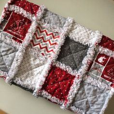 Baby Rag Quilt Washington State University by AllAboutTheDetail Baby Rag Quilts, Handmade Baby Quilts, Quilting Ideas, Quilting Projects, Sewing Projects, Crafty Hobbies, Flannel Baby Blankets, Bazaar Ideas, Alma Mater