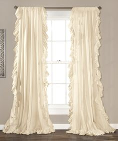 Another great find on #zulily! Ivory Reyna Window Curtain Panel - Set of Two #zulilyfinds