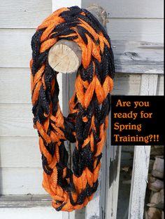 Baseball Infinity Scarf in Team Colors by WarmButterfly on Etsy