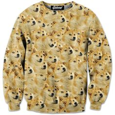"belovedwear® presents the #Doge Sweatshirt. This ""all over"" print crewneck sweatshirt is made using a special sublimation technique to provide a vivid graphic image throughout the shirt. • 100% Polyes"